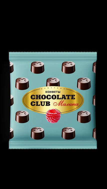 4456bc25fa5eb КОНФЕТЫ CHOCOLATE CLUB МАЛИНА - купить, цена с доставкой в интернет-магазине  в Санкт-Петербурге